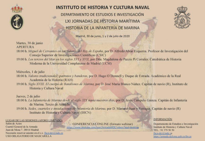 """LXI Jornadas de Historia Marítima: """"Historia de la Infantería de Marina"""", del 30 de junio al 2 de julio"""